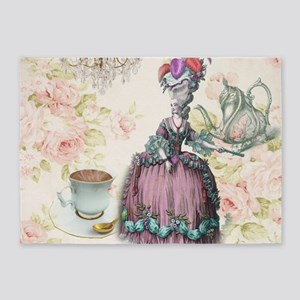 marie antoinette paris floral tea party 5x7area