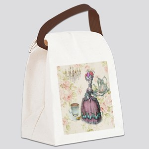 marie antoinette paris floral tea party Canvas Lun