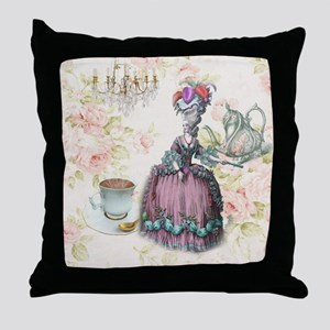 marie antoinette paris floral tea party Throw Pill