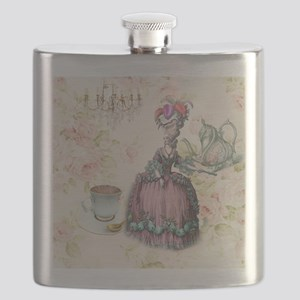 marie antoinette paris floral tea party Flask