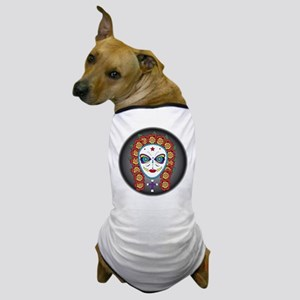 flower skull Dog T-Shirt