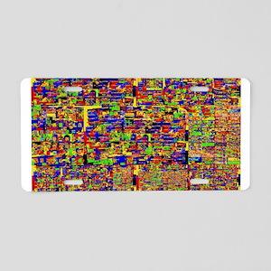 Digital noise Aluminum License Plate