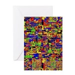 Digital noise Greeting Cards