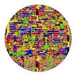 Digital noise Round Car Magnet