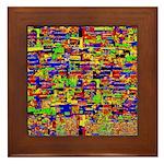 Digital noise Framed Tile