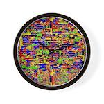 Digital noise Wall Clock