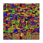Digital noise Tile Coaster
