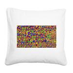 Digital noise Square Canvas Pillow