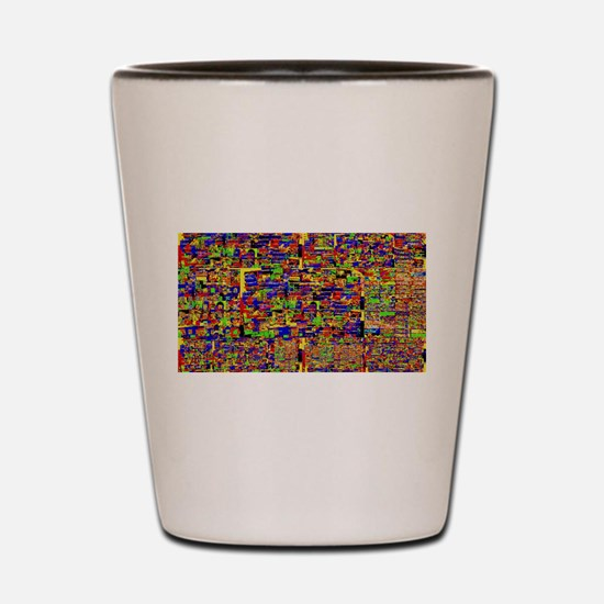 Digital noise Shot Glass