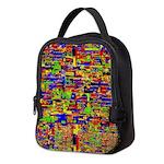 Digital noise Neoprene Lunch Bag