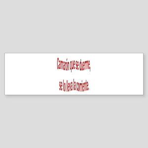 Camaron dicho colombiano Bumper Sticker