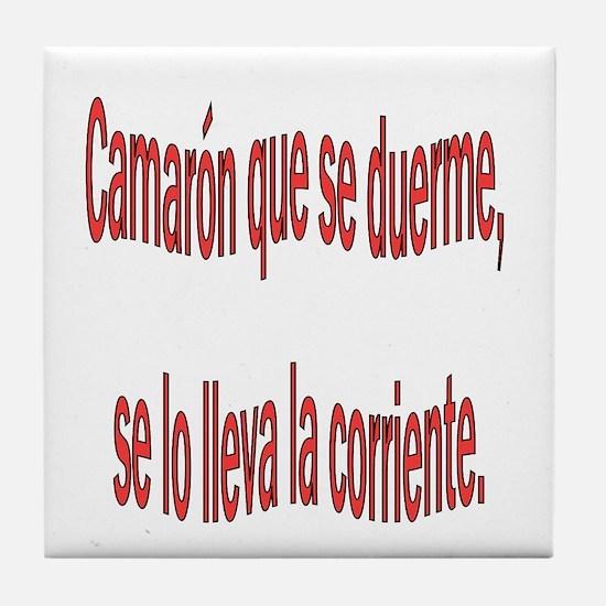 Camaron dicho colombiano Tile Coaster