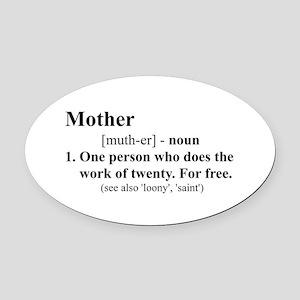 Definition of Mother Oval Car Magnet