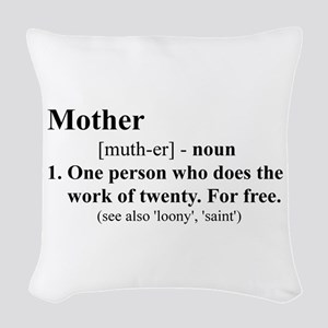 Definition of Mother Woven Throw Pillow