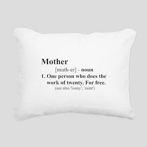 Definition of Mother Rectangular Canvas Pillow
