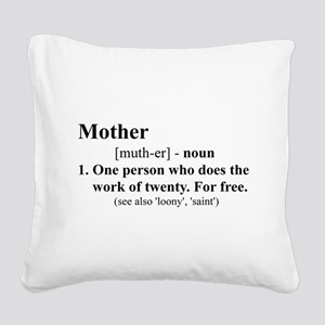 Definition of Mother Square Canvas Pillow