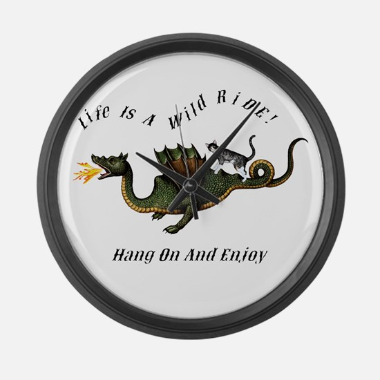 Life Is A Wild Ride Large Wall Clock