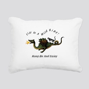 Life Is A Wild Ride Rectangular Canvas Pillow