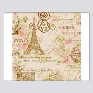elegant paris Eiffel tower floral art Small Poster