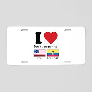 USA-ECUADOR Aluminum License Plate