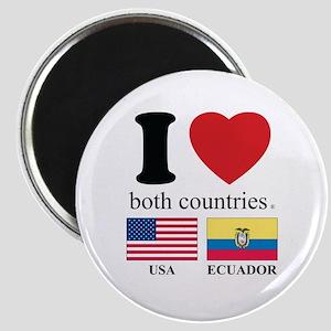 USA-ECUADOR Magnet