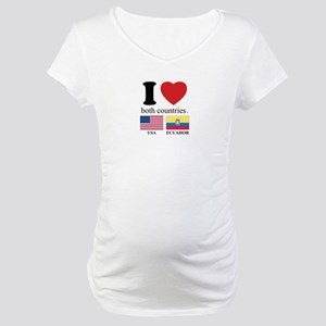 USA-ECUADOR Maternity T-Shirt