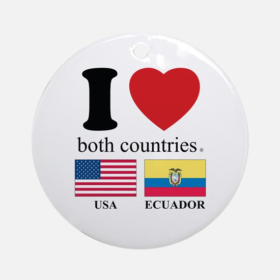 USA-ECUADOR Ornament (Round)
