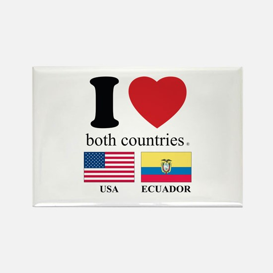 USA-ECUADOR Rectangle Magnet