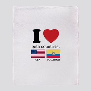USA-ECUADOR Throw Blanket