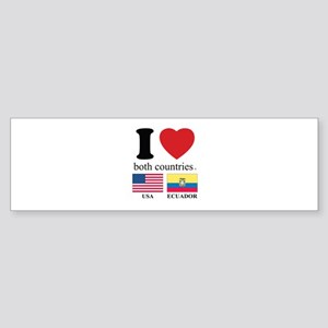 USA-ECUADOR Sticker (Bumper)