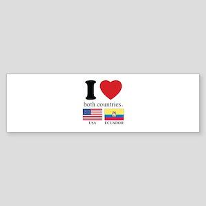 USA-ECUADOR Sticker (Bumper)