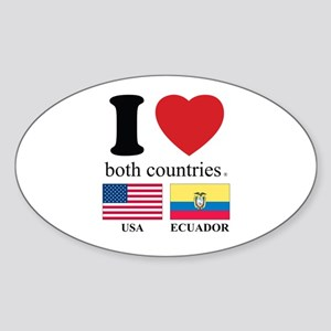 USA-ECUADOR Sticker (Oval)