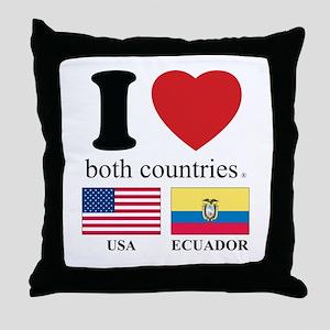 USA-ECUADOR Throw Pillow