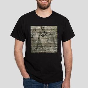 barn wood elegant paris Eiffel tower T-Shirt