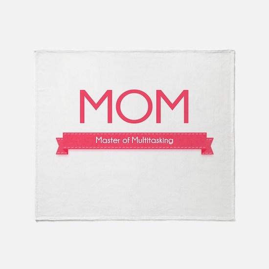 MOM: Master of Multitasking Throw Blanket