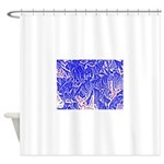 Peace and action Shower Curtain