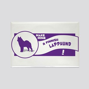Make Mine Lapphund Rectangle Magnet