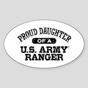 Army Ranger Daughter Sticker (Oval)