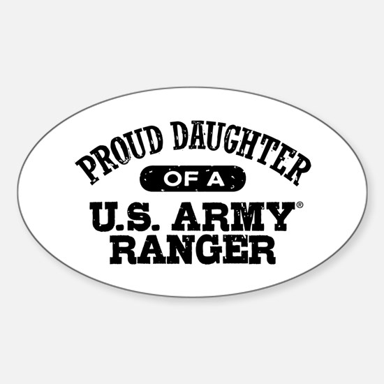 Army Ranger Daughter Sticker (Oval)