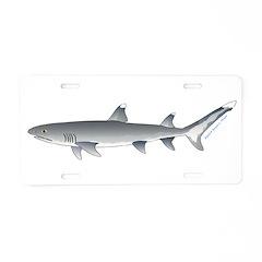 Whitetip Reef Shark Aluminum License Plate