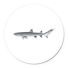 Whitetip Reef Shark Round Car Magnet