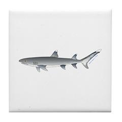 Whitetip Reef Shark Tile Coaster