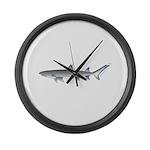 Whitetip Reef Shark Large Wall Clock
