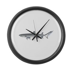 Whitetip Reef Shark Large Wall Clock