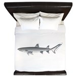Whitetip Reef Shark King Duvet
