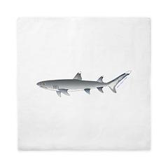 Whitetip Reef Shark Queen Duvet