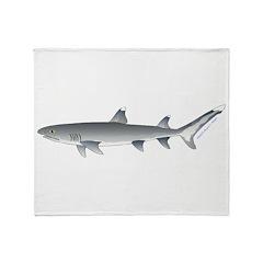 Whitetip Reef Shark Throw Blanket