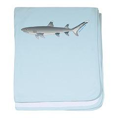 Whitetip Reef Shark c baby blanket