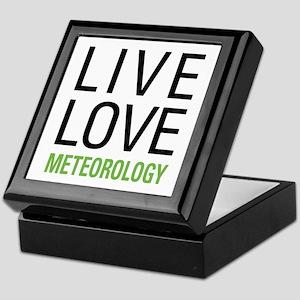 Live Love Meteorology Keepsake Box