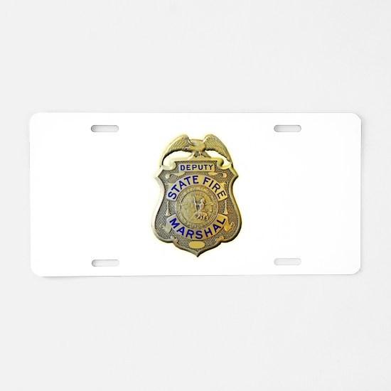 California Fire Marshal Aluminum License Plate